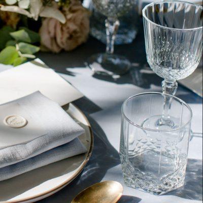 glas met relief huren bruiloft wishkey longdrink waterglas helder glas