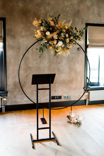 backdrop zwart huren rond bruiloft