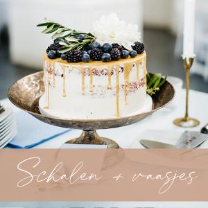 taartschaal huren decoratie bruiloft