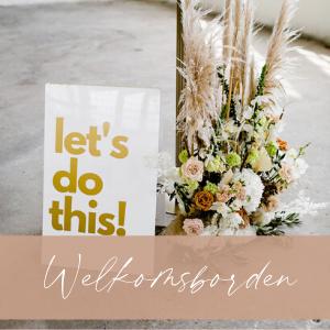 welkomsbord entree bruiloft decoratie huren