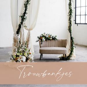 trouwbankje huren bruiloft