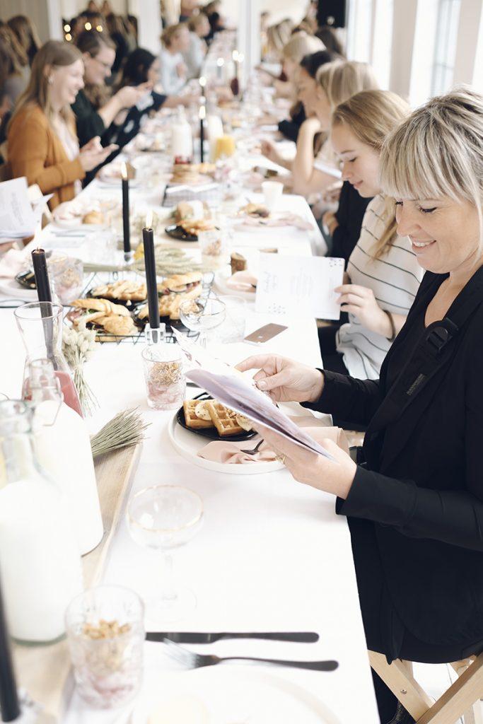 event voor creative vrouwen ontbijt styling decoratie vrouwelijke ondernemers offline meeting aankleding meet up studio 13 amsterdam feline styling handout