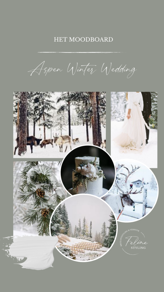moodbord bruiloft winter wedding