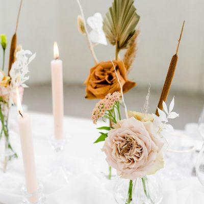kandelaar met kaars huren bruiloft