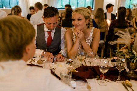 diner fotografie bruid en bruidegom