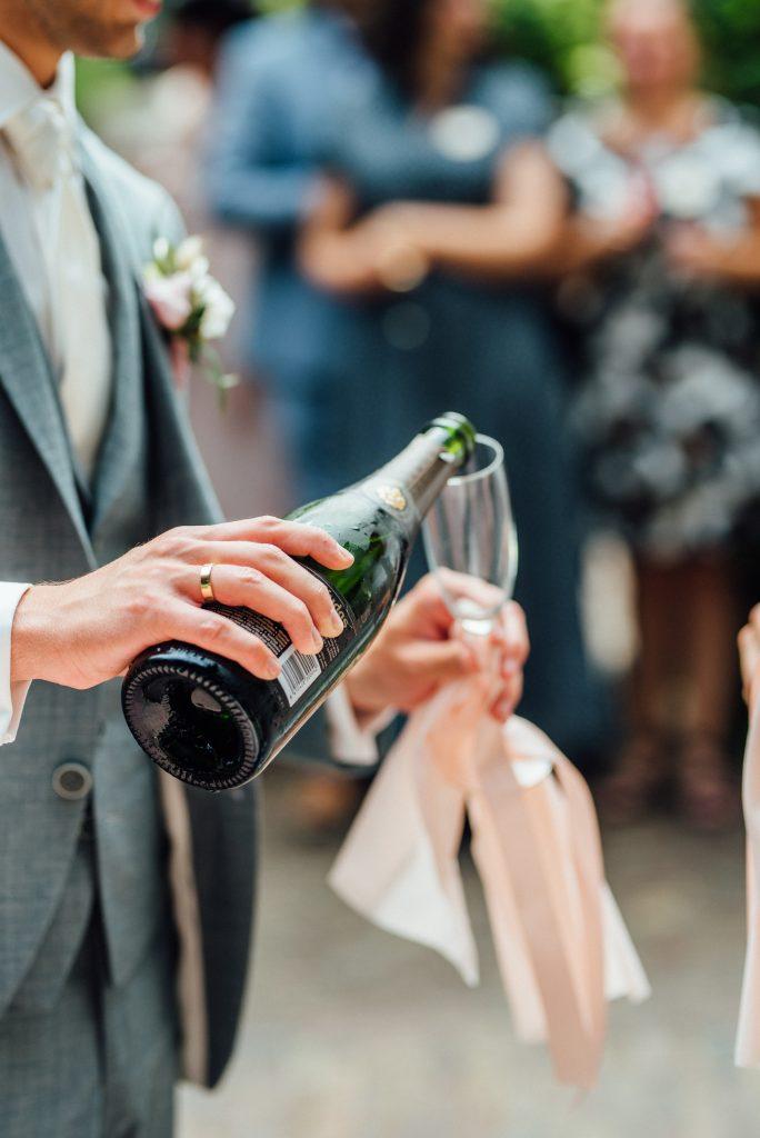 champagne bubbels bruiloft
