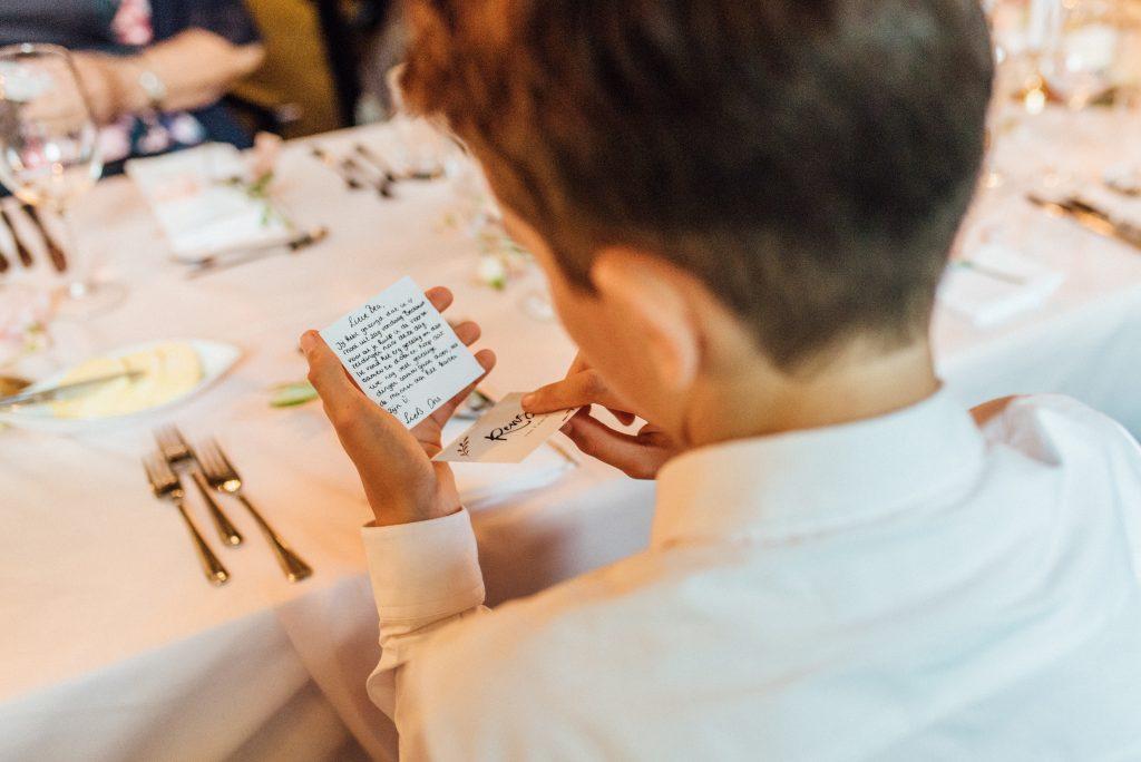 bruiloft met persoonlijke details