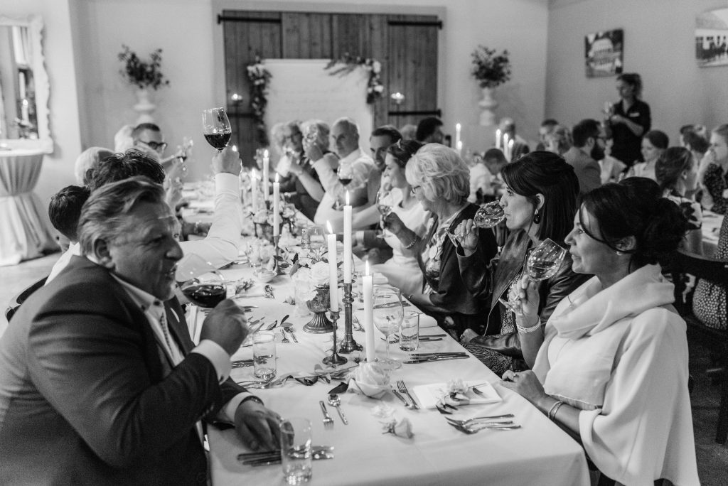 trouwen diner bruiloft eten hulshorst
