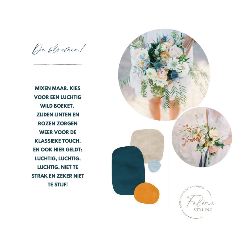 tips bloemen bruiloft luchtig en speels boeket