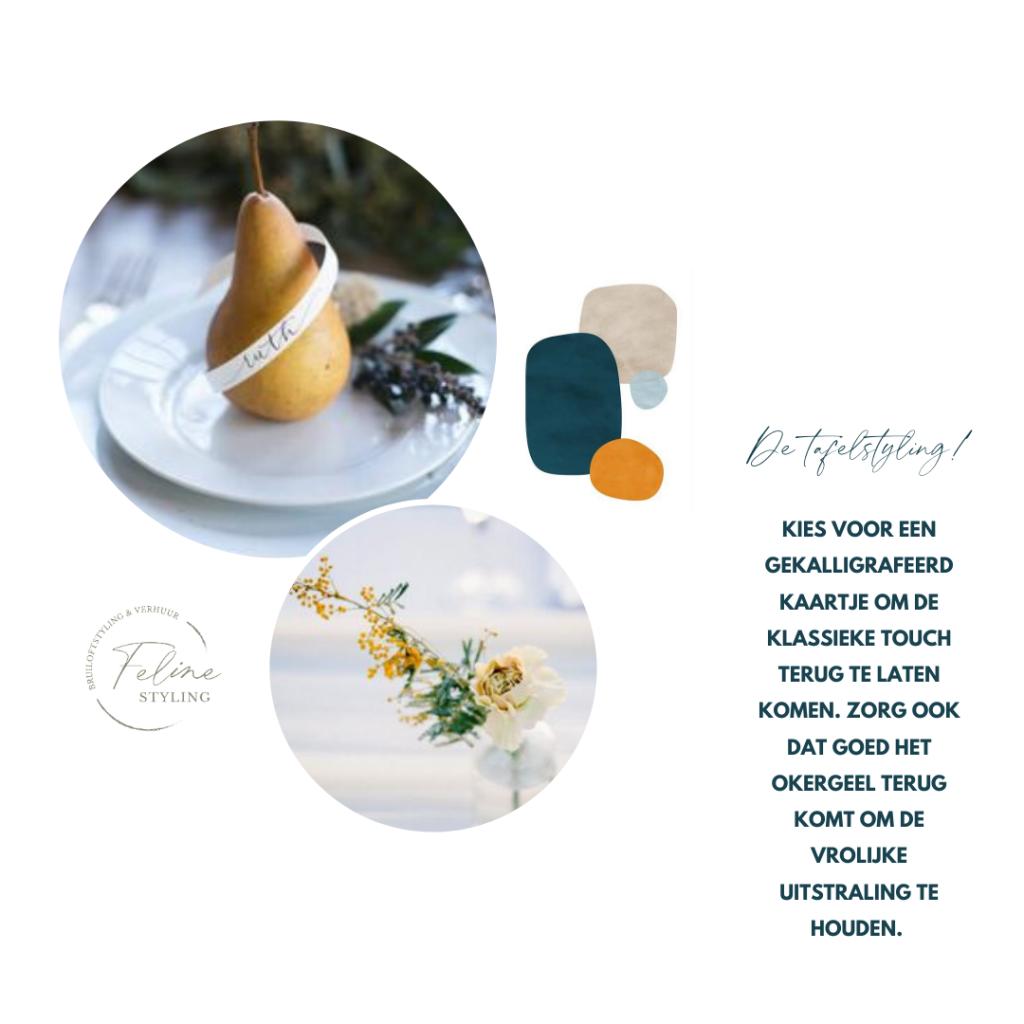 tips tafelstyling bruiloft donkerblauw thema trouwen