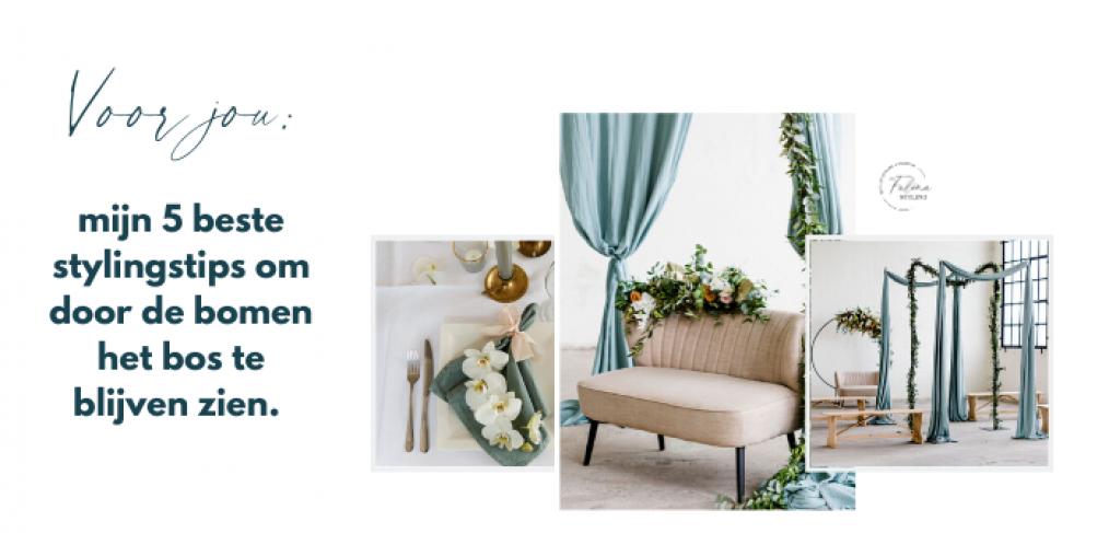5 tips om je bruiloft eenvoudig te decoreren