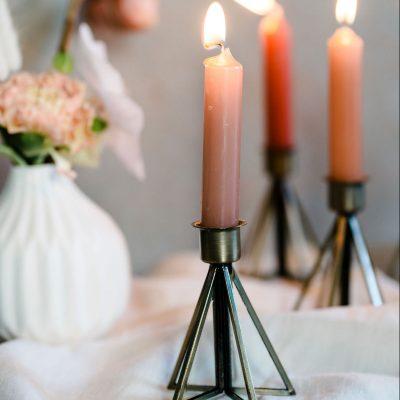 kandelaren modern brond goud nikkel bruiloft huren decoratie versiering