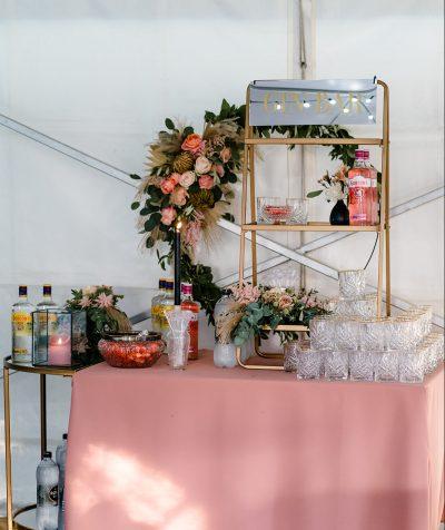 gin bar bruiloft huren decoratie drank