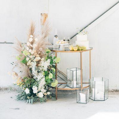 leuke meubels huren bruiloft goud
