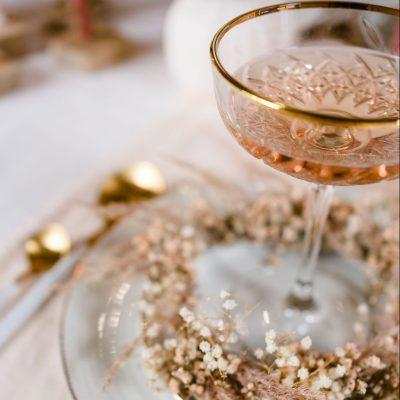 champagne coupe champagneglas dessert coupe bruiloft luxe gouden rand huren