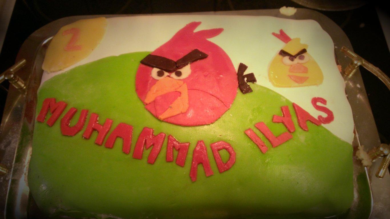 Angry Birdtårta