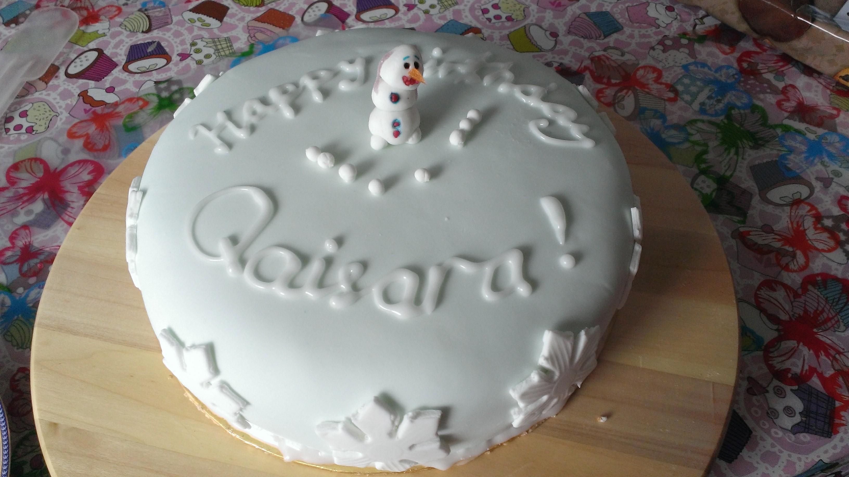 Frozen-tårta