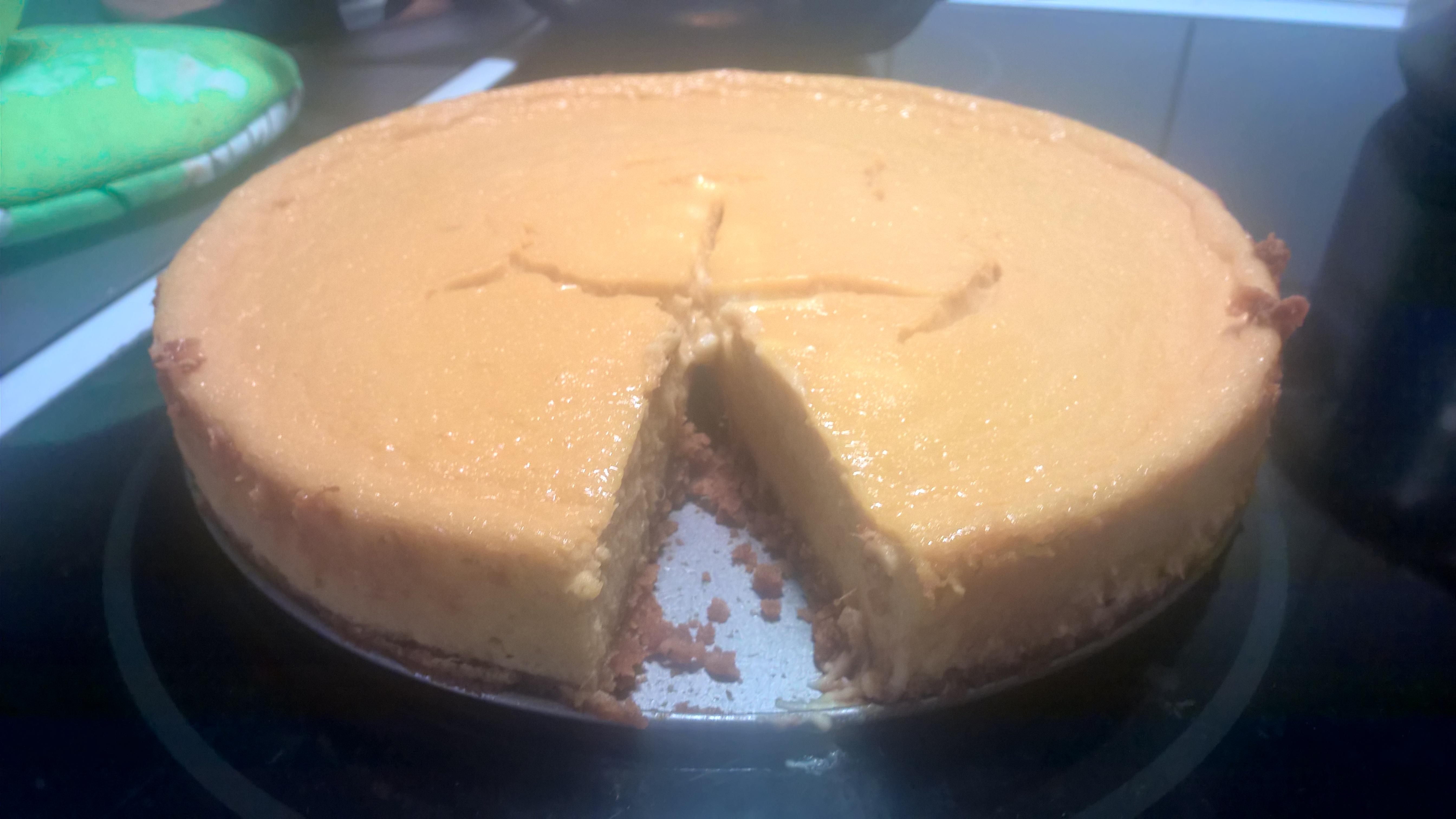 Bakad Cheesecake med mango