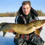 Ice Fishing for Pike in Sweden