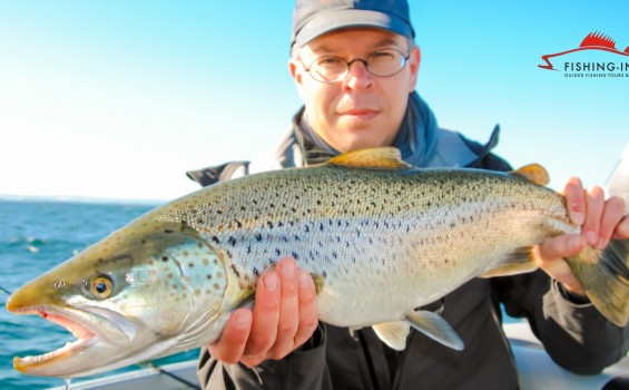 Fishing in Sweden for Trout on Lake Vättern
