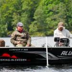 Fishing in Swedens Alumacraft boat