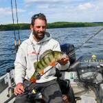 Perch Fishing in Sweden at Lake Ören
