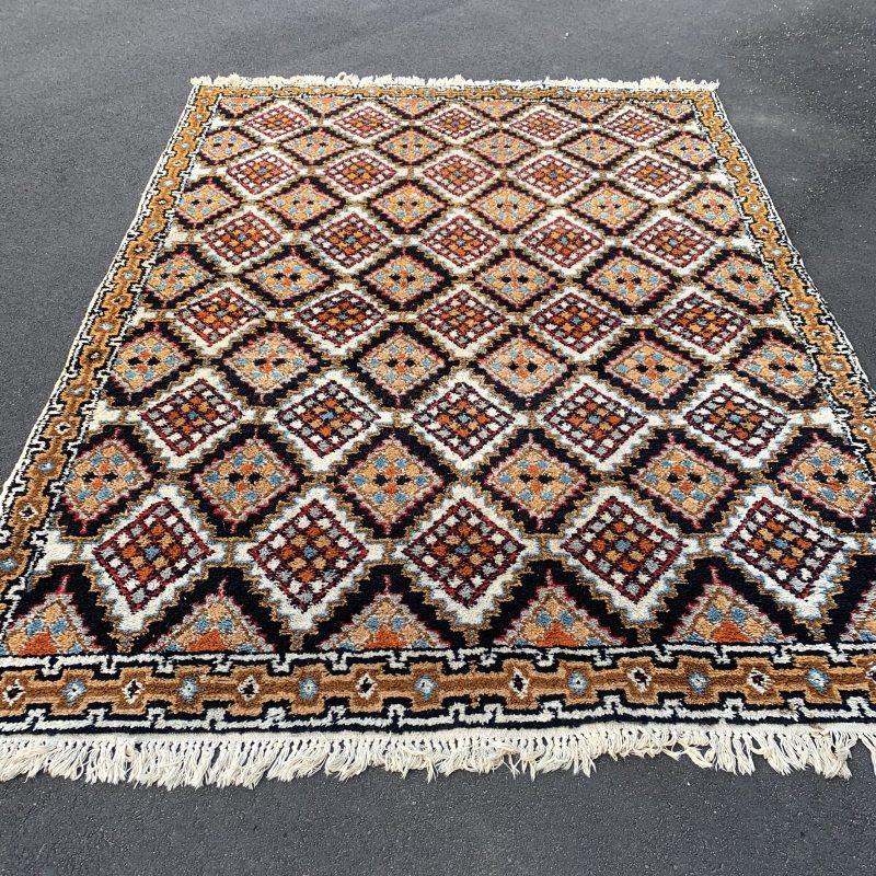 Stor handknuten matta i ull, Marocko
