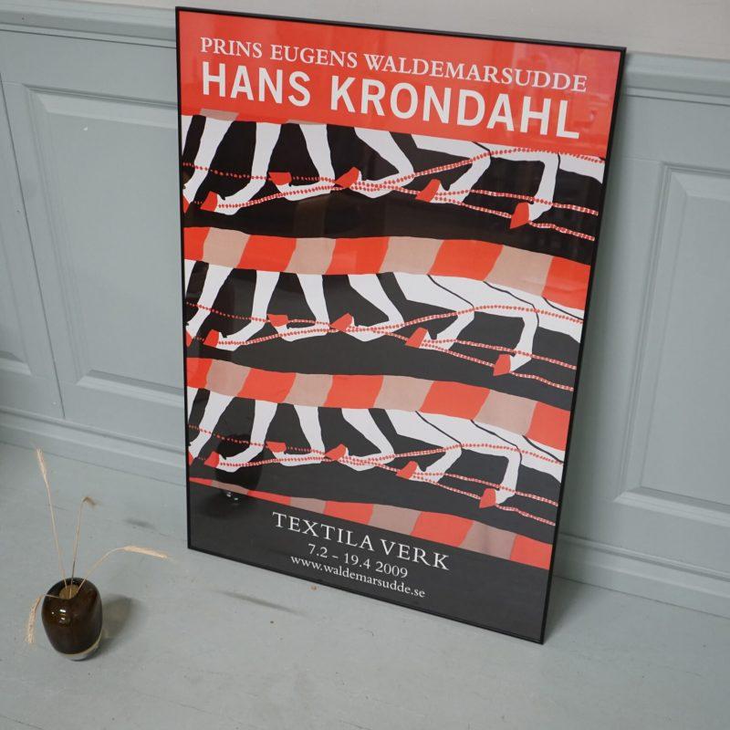 Utställningsaffisch, Hans Krondahl, Waldemarsudde 2009