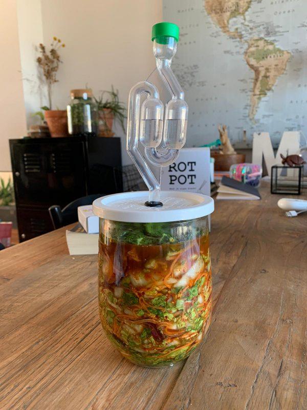 Fermentation pot with Kimchi