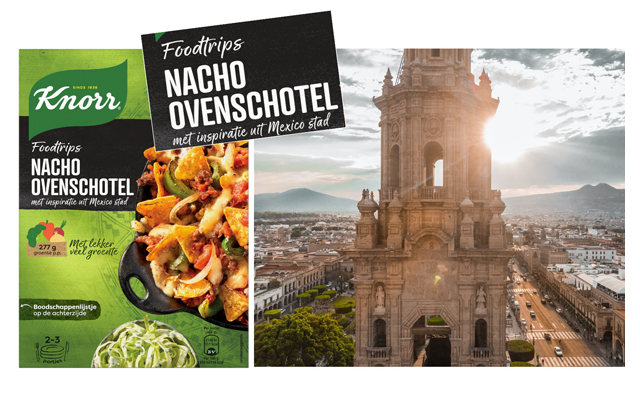 Concept Development Knorr Food Trip, Nacho ovenschotel Mexico Stad