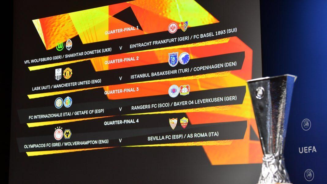 Lodtrækning i UEFA til Europa League kvartfinaler
