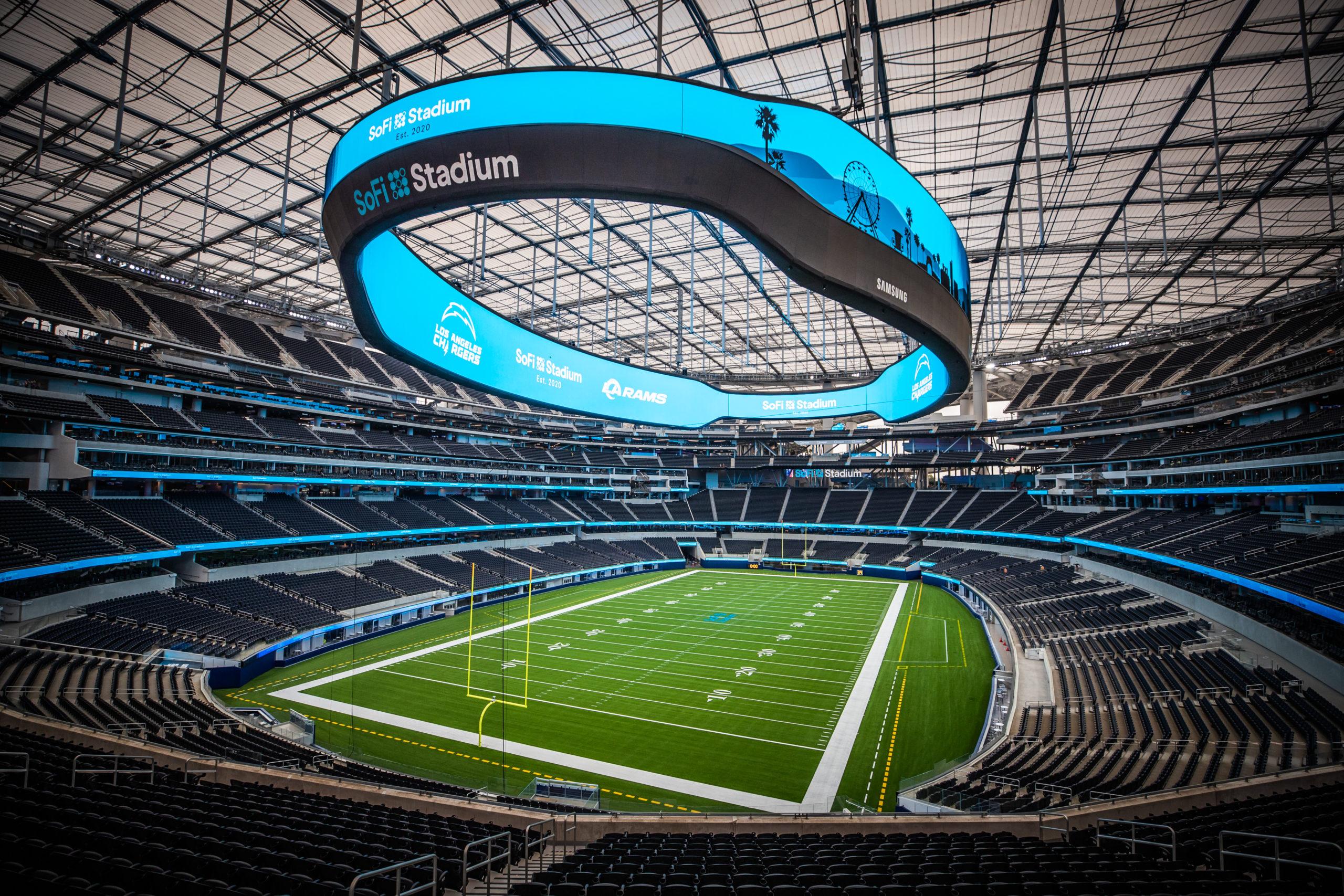 SoFi Stadium video board 4K