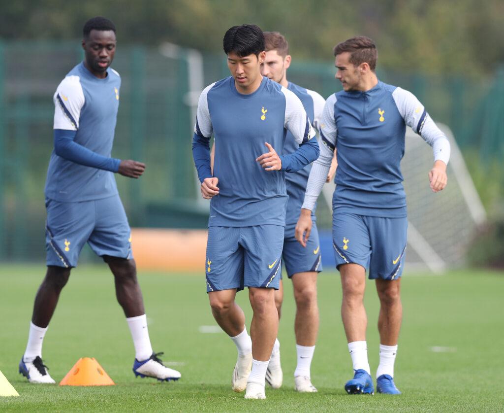 Heung-Min Son træner med Tottenham Hotspurs