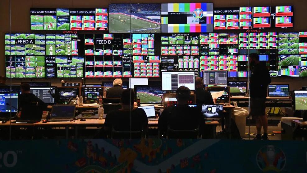 Control room TV IBC UEFA
