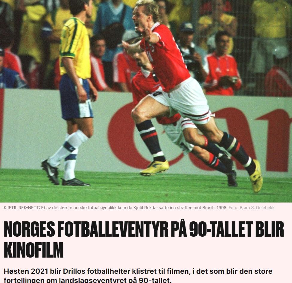Faksimile fra VG om film om Drillos landslag