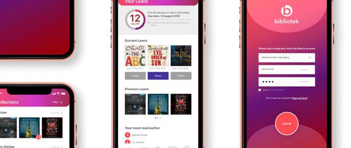 UI Design – Bibliotek Mobile App