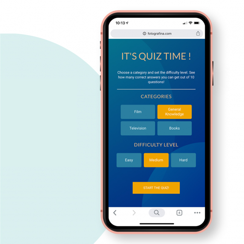 Quiz Game with Vanilla Javascript
