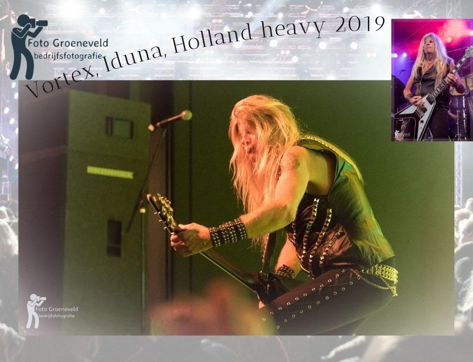 Concert Vortex in Drachten, Friesland. Martjo Whirlewolf Brongers van Vortex tijdens zijn laatste optreden in Iduna bij Holland Heavy Festival 2019.