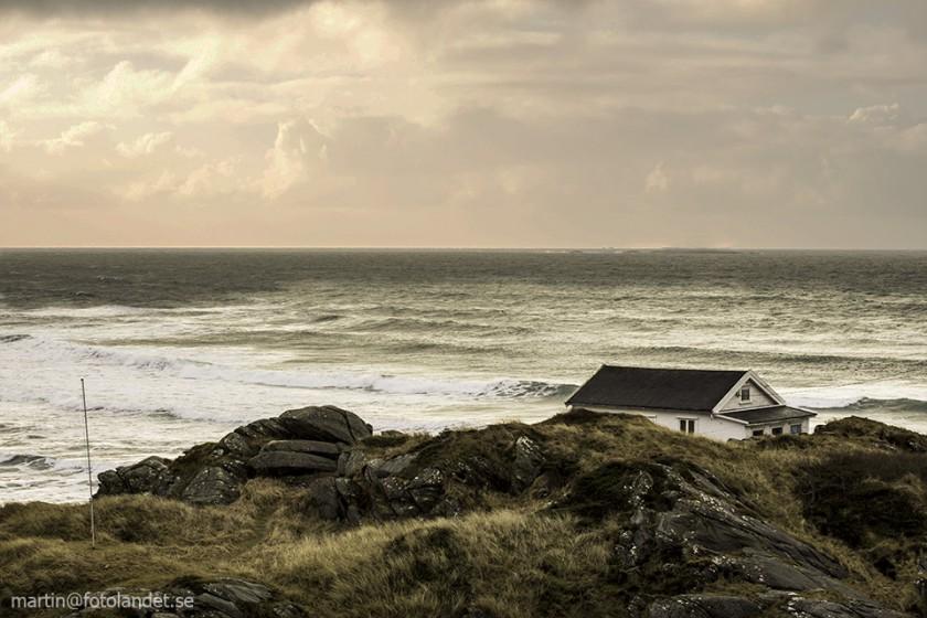 Vy över havet strax utanför Ølbergshamn