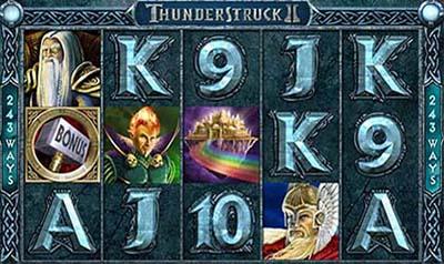 Thunderstruck 2 - Une machine à sous qui paye plus qu'ailleurs