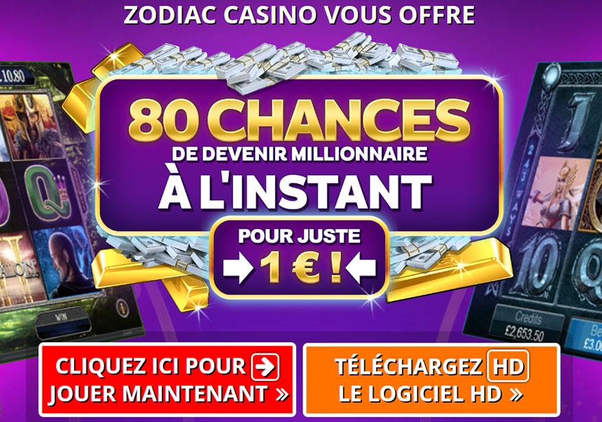 Zodiac Casino et la machine à sous Mega Moolah