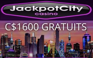 Les plus gros bonus de bienvenue sont chez Jackpot City