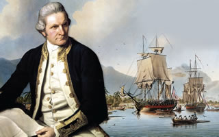 James Cook - le navigateur Anglais qui a inspiré les concepteurs du site.