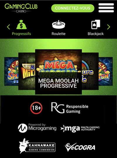 Gaming Club est certifié auprès de commissions internationales de jeux d'argent à distance.