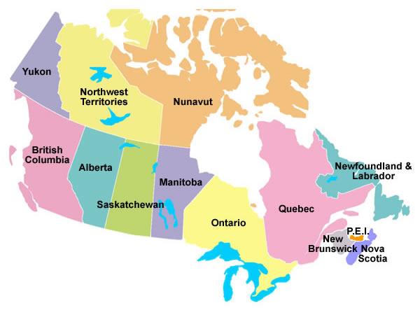 Provinces du Canada