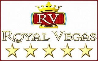 Le logo 5 étoiles de Royal Vegas.