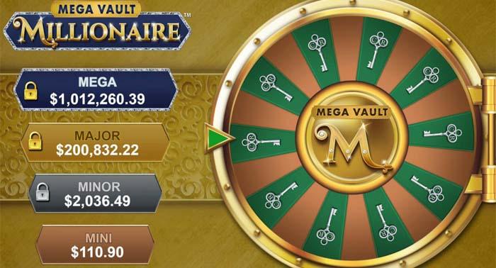 Les 4 jackpots à gagner au Mega Vault Millionaire