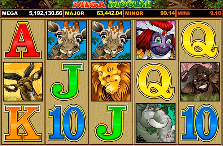 Mega Moolah est la machine à sous en ligne progressive la plus jouée Québec - Elle est la slot qui reverse le plus d'argent sur l'Internet Canadien