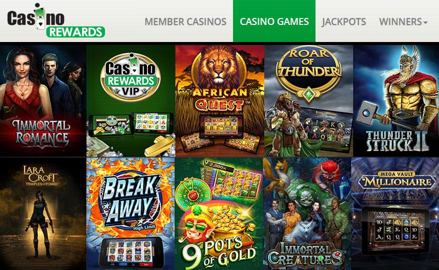 Jeux à jackpot de Casino Rewards