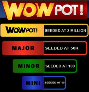 Les 4 pots de la roue à jackpot